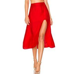 🍋 For Love & Lemons Gabriella Button Midi Skirt